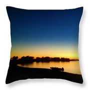 Sunset On The Lake... Throw Pillow