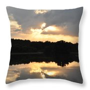 Sunset On The Lakefront Throw Pillow