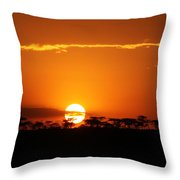 Sunset On The Mara Throw Pillow
