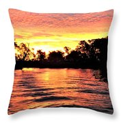 Sunset On The Murray River Throw Pillow