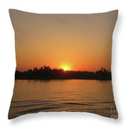 Sunset On The Nile Throw Pillow