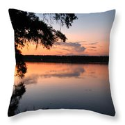 Sunset On The Ogeechee Throw Pillow