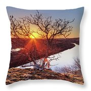 Sunset On The Osage River Throw Pillow