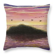 Sunset On The Pacific Throw Pillow