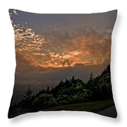 Sunset On The Parkway Throw Pillow