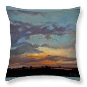 Sunset On The Prarie Throw Pillow