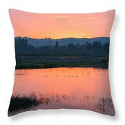 Sunset On The Refuge Throw Pillow