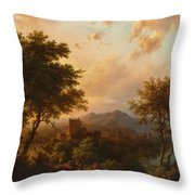 Sunset On The Rhine Throw Pillow