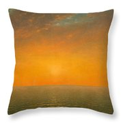 Sunset On The Sea Throw Pillow
