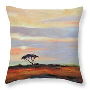 Sunset On The Serengheti Throw Pillow