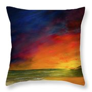 Sunset On The Shore Throw Pillow