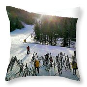 Sunset On The Slopes Throw Pillow