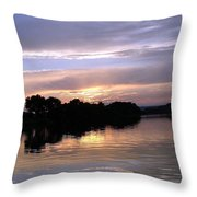 Sunset On The Snake Throw Pillow