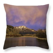 Sunset On The Snake River Throw Pillow