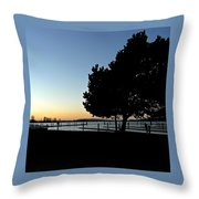 Sunset On The Sound 2 Throw Pillow