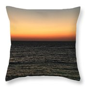 Sunset Over Ceaserea Throw Pillow