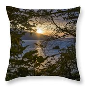 Sunset On The Sound2 Throw Pillow