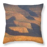 Sunset On The South Rim Of The Canyon Throw Pillow