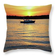 Sunset On The Strand Throw Pillow