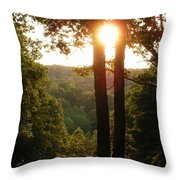 Sunset On The Trace Throw Pillow