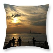 Sunset On The Upper Bay Throw Pillow
