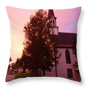 Sunset On The Whitefield Methodist Church Throw Pillow