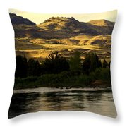Sunset On The Yellowstone Throw Pillow