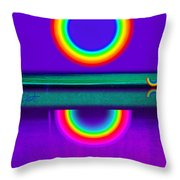 Sunset On Violet Throw Pillow
