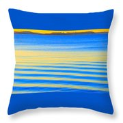 Sunset On Waves Throw Pillow