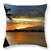 Sunset Or Sunrise Throw Pillow