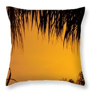 Sunset Orange After Storm Throw Pillow