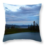 Sunset Out West Throw Pillow