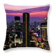 Sunset Over Bangkok Throw Pillow