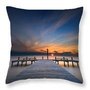 Sunset Over Barnegat Bay Throw Pillow