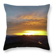 Sunset Over Black Canyon And River #1 Throw Pillow