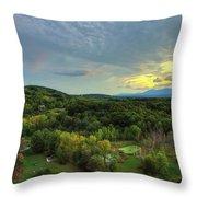 Sunset Over Blue Hill Throw Pillow