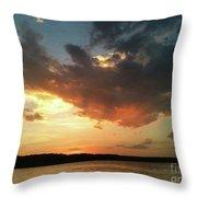 Sunset Over Bridgeport Lake Throw Pillow