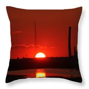Sunset Over Bridgeport Throw Pillow