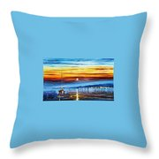 Sunset Over California Throw Pillow