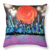 Sunset Over Capital Square Throw Pillow