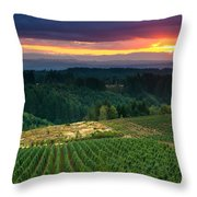 Sunset Over Central Oregon 4 Throw Pillow