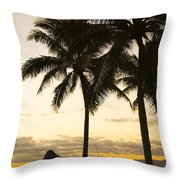 Sunset Over Chinamans Hat Throw Pillow
