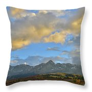 Sunset Over Dallas Divide Throw Pillow