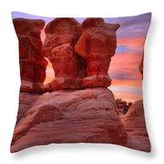 Sunset Over Devils Garden Throw Pillow