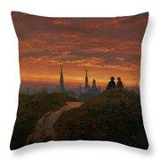Sunset Over Dresden Throw Pillow