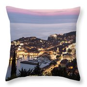 Sunset Over Dubrovnik In Croatia Throw Pillow