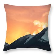 Sunset Over Grisedale Pike And The Coledale Horsehoe, Lake Distr Throw Pillow