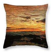 Sunset Over Hawaii Throw Pillow