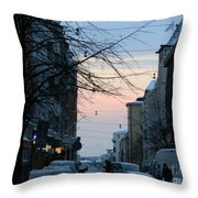Sunset Over Helsinki Throw Pillow