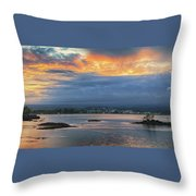 Sunset Over Hilo Throw Pillow
